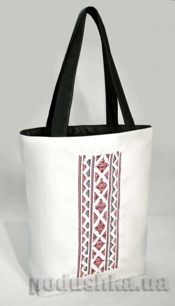 Молодежная сумка-шоппер Украинская вышивка Б334 Slivki