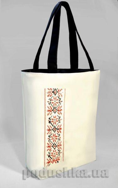 Молодежная сумка-шоппер Украинская вышивка Б335 Slivki