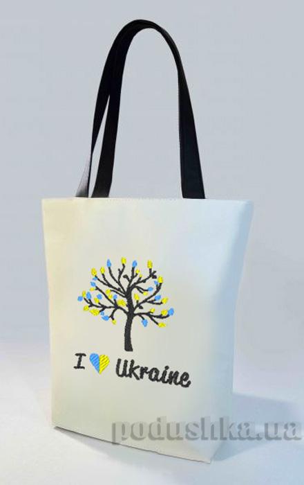 Молодежная сумка-шоппер Я люблю Украину Б327 Slivki