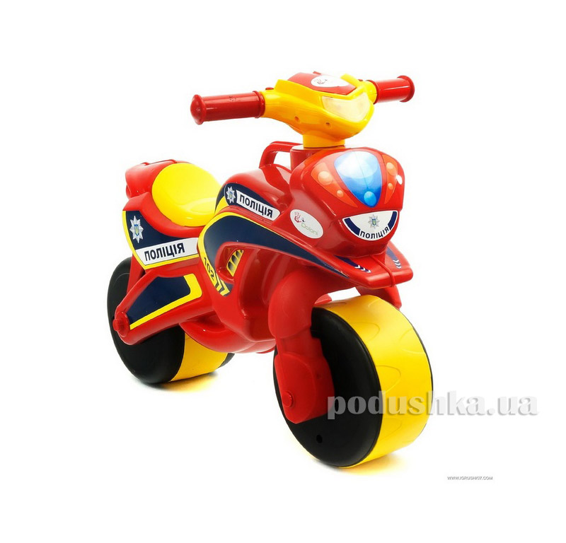 Мотоцикл-каталка Байк Полиция Flamingo-toys 0139/560