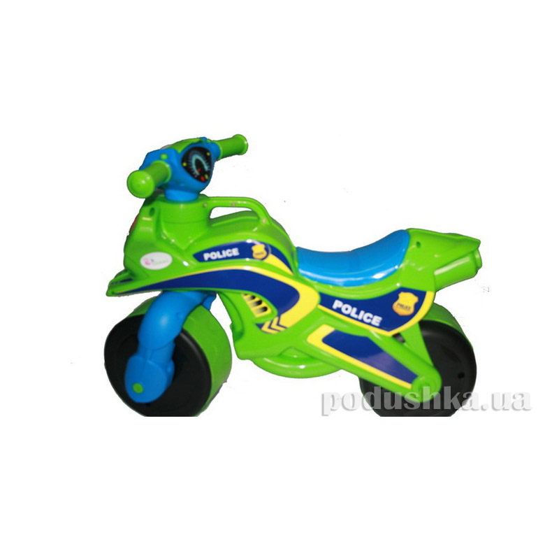 Мотоцикл-каталка МотоБайк Полиция Flamingo-toys 0139/52