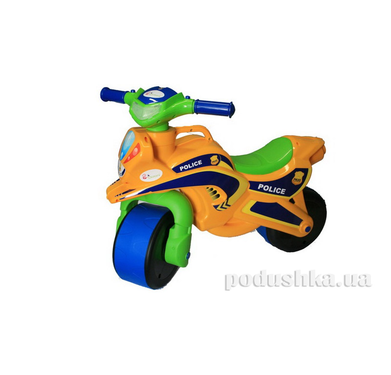 Мотоцикл-каталка МотоБайк Полиция Flamingo-toys 0139/53