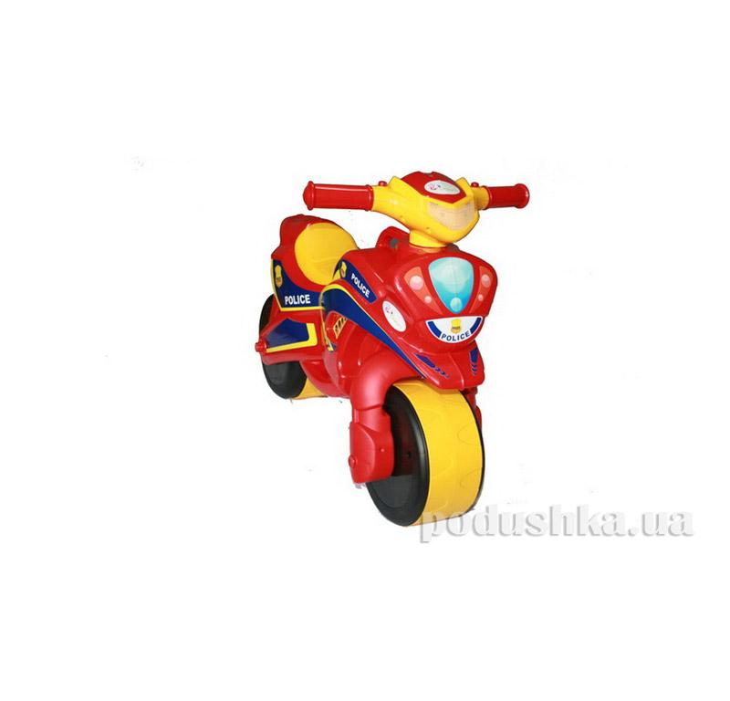 Мотоцикл-каталка МотоБайк Полиция Flamingo-toys 0139/56