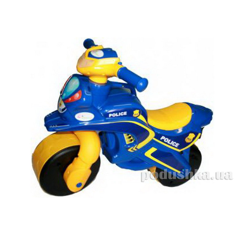 Мотоцикл-каталка МотоБайк Полиция Flamingo-toys 0139/57