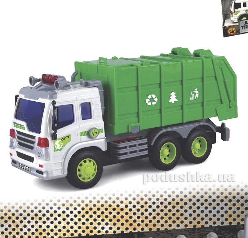 Мусоровоз Junior Trucker 28 см со светом и звуком Dave Toy 33018   Dave Toy