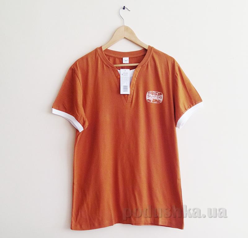Мужская футболка Senti 1306101 оранжевая