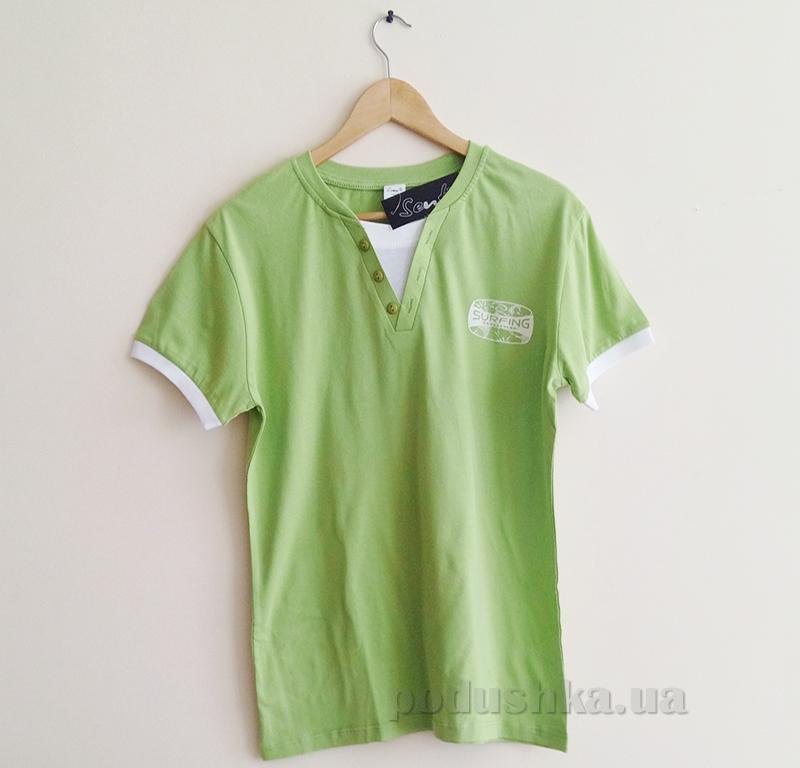 Мужская футболка Senti 1306101 зеленая