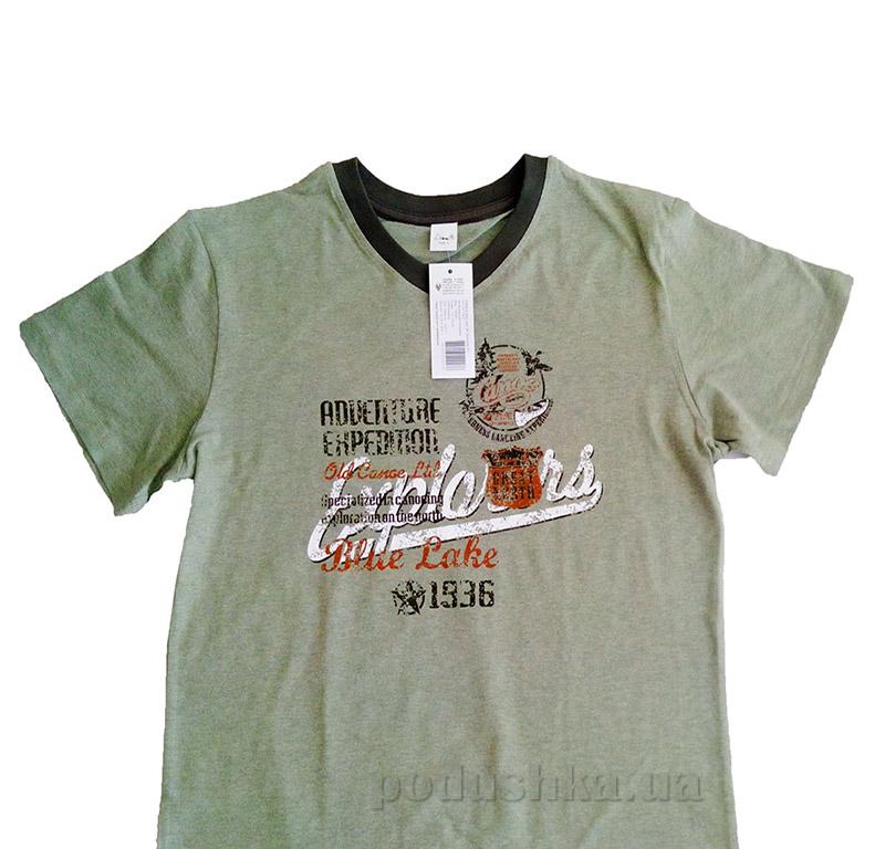 Мужская футболка Senti 140205 хаки