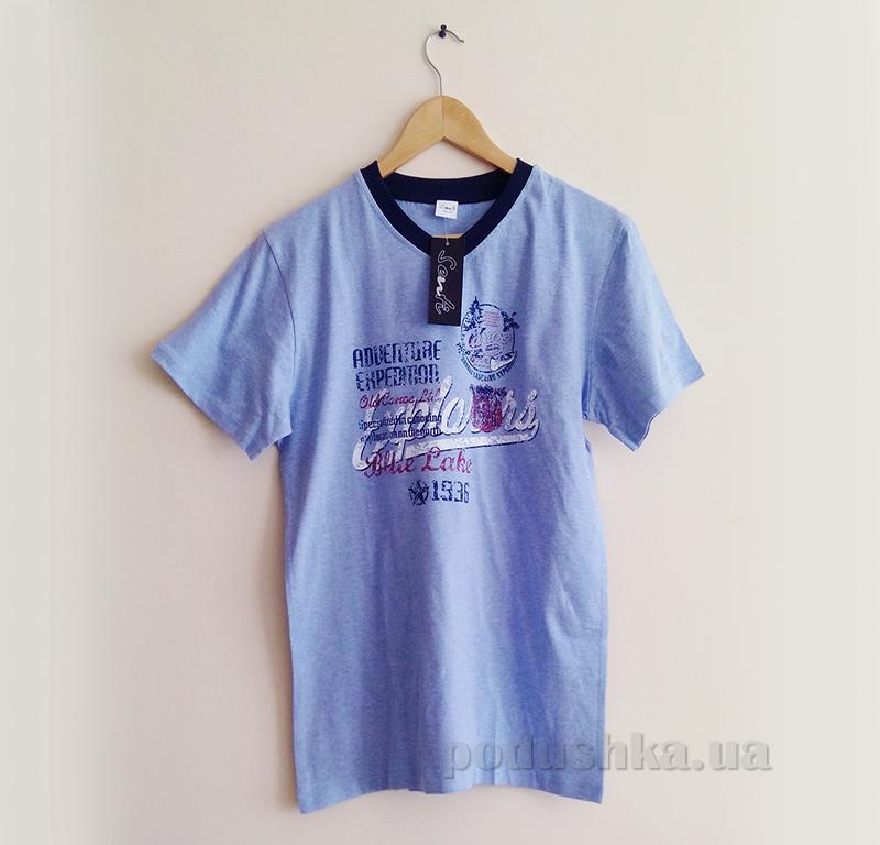 Мужская футболка Senti 140205 синяя
