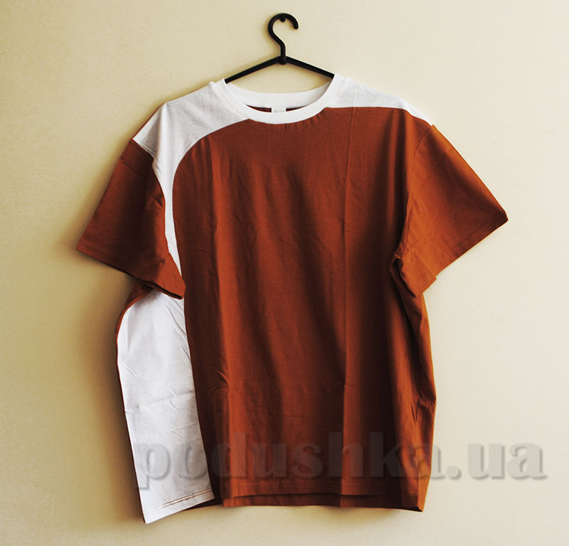 Мужская футболка Senti 141214 оранжевая с белым