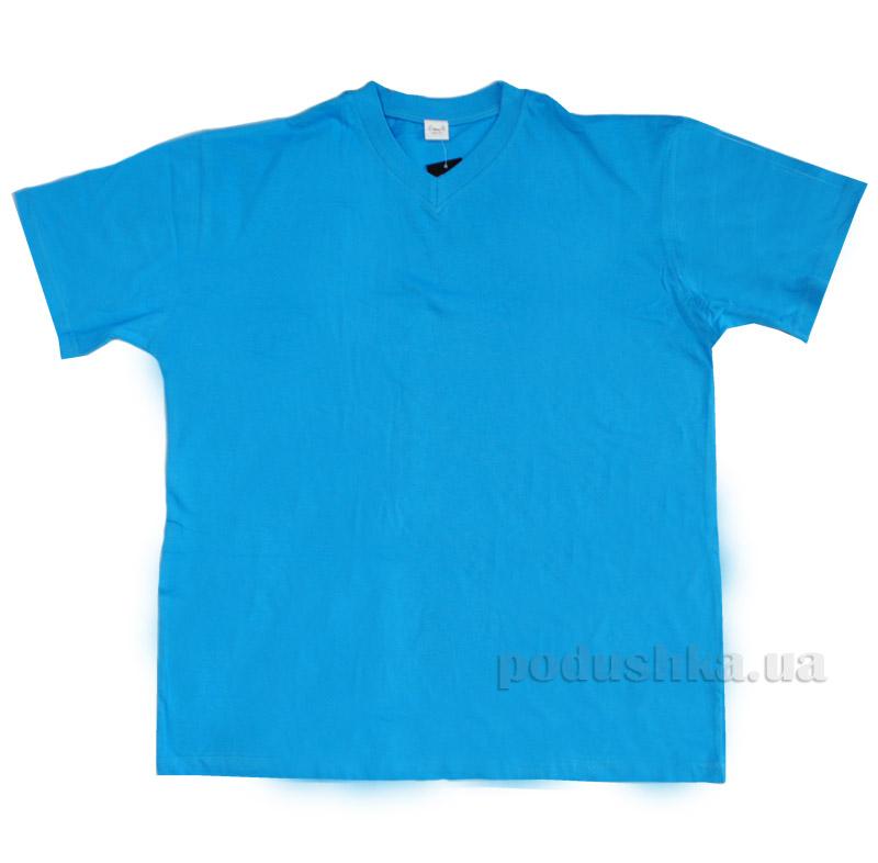 Мужская футболка Senti 20601 голубая