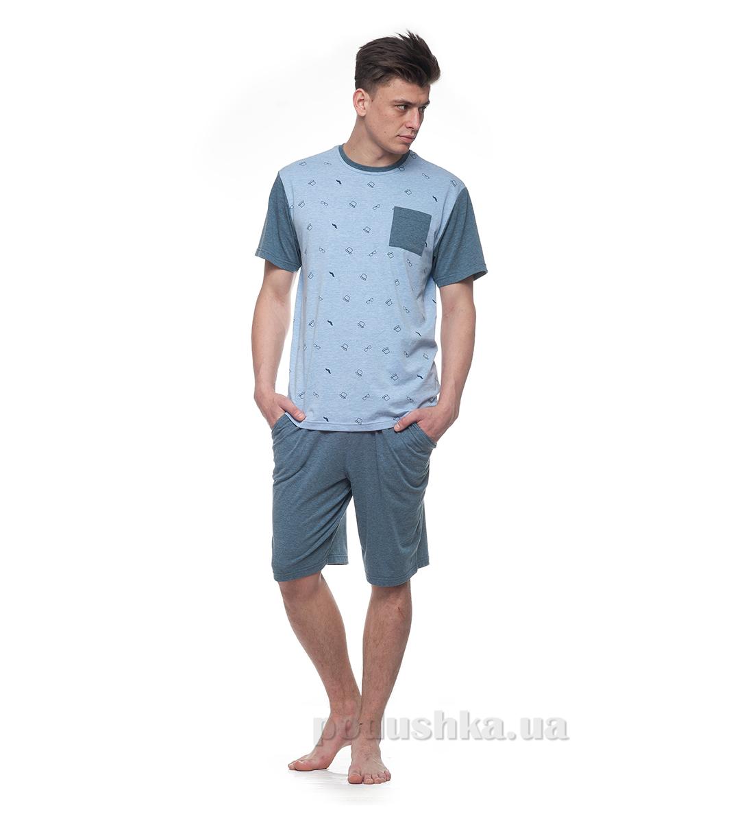 Домашний костюм для мужчин Ellen MNP 013/001 меланж синий