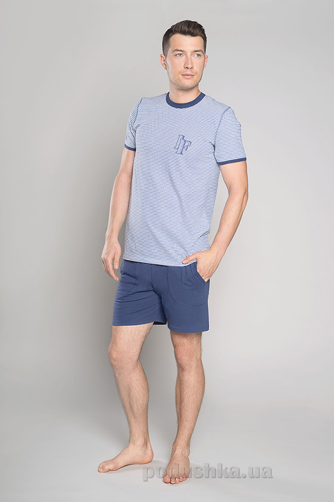 Мужская пижама Italian Fashion M-Kristo-3.3 синий-джинс