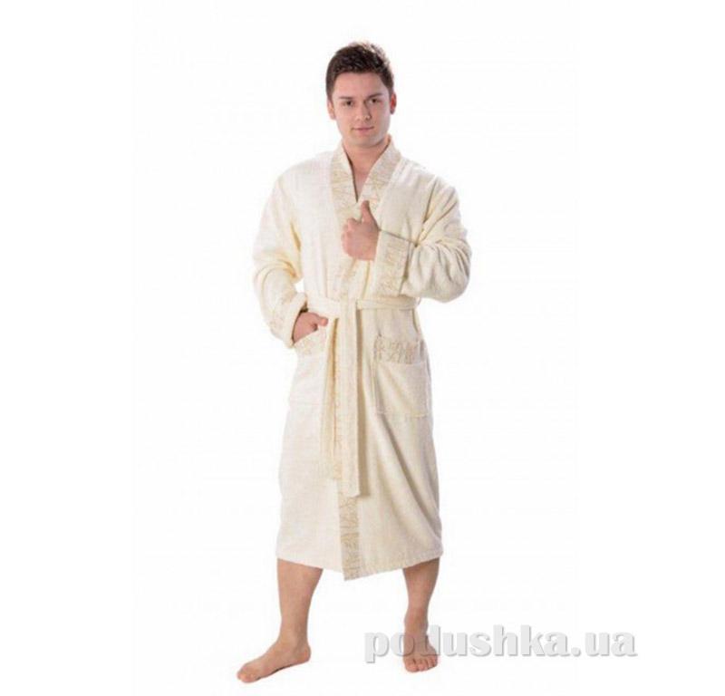 Мужской халат Кимоно Arya 13550 светло-кремовый