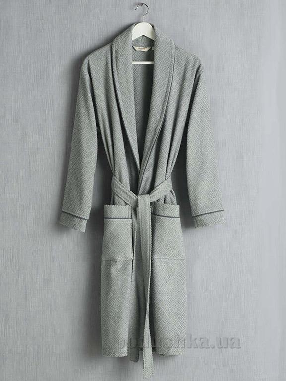 Мужской халат Pavia Rustico Grey серый XXL  Pavia