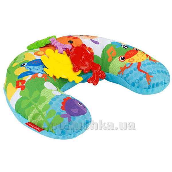 Музыкальная массажная подушка для игры на животике Fisher-price Тропические друзья