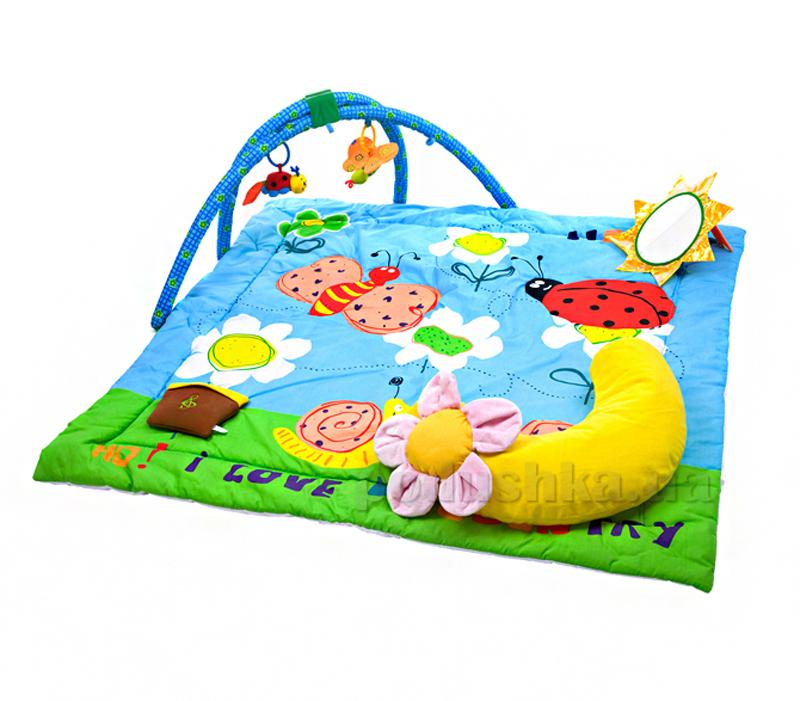 Музыкальный развивающий коврик Biba Toys Райский сад с дугами 670BP