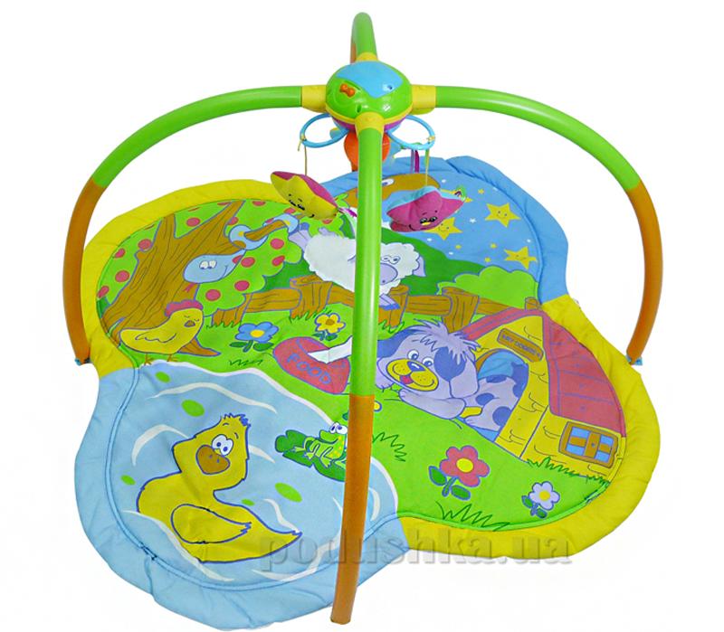 Музыкальный развивающий коврик Biba Toys Танец звезд с мобилем 073BP