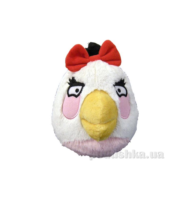 Мягкая игрушка Angry Birds птичка-девочка белая 92051