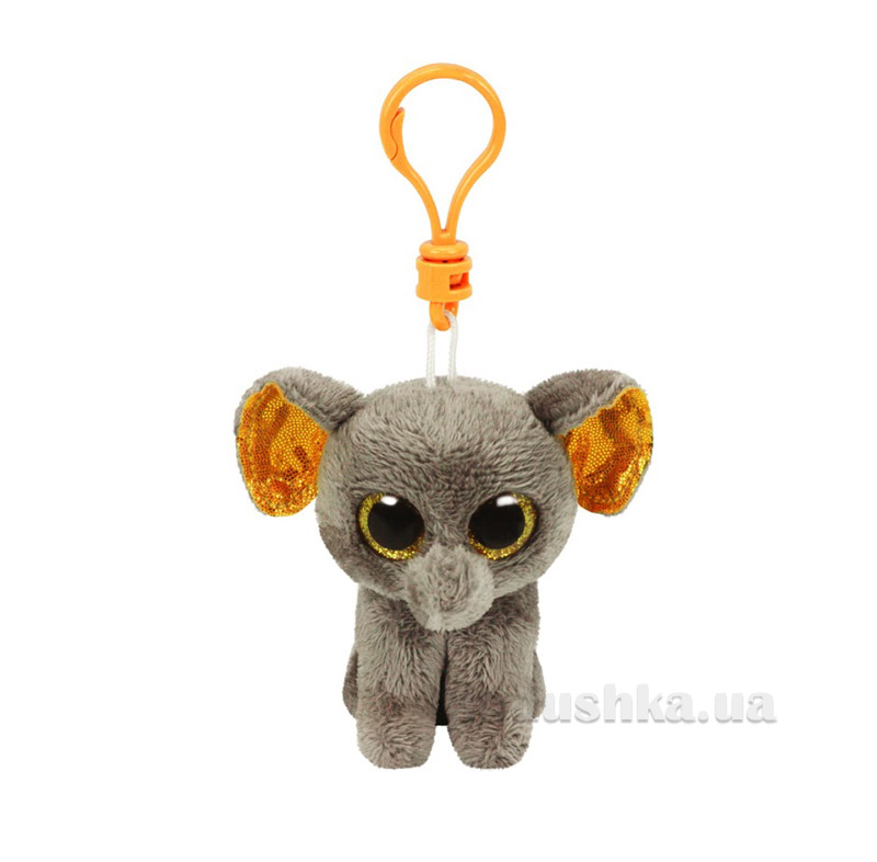 Мягкая игрушка-брелок Beanie Boo's 36521 Слон Peanut