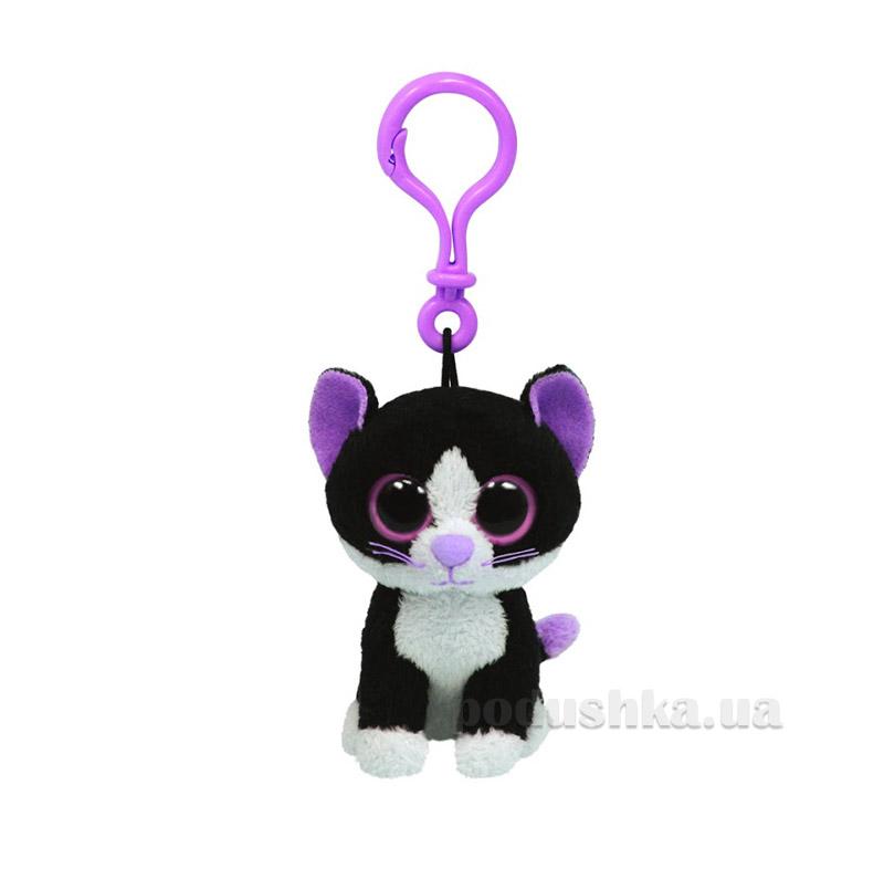 Мягкая игрушка-брелок Beanie Boo's 36524 Черный кот Pepper