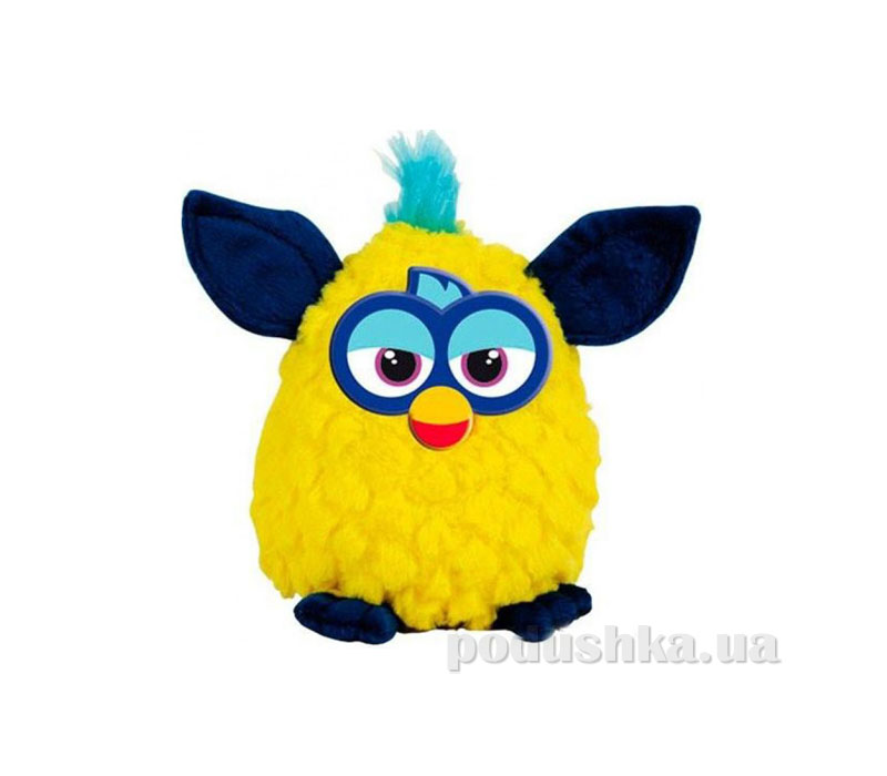 Мягкая игрушка Ферби  желтый с темно-синими ушками