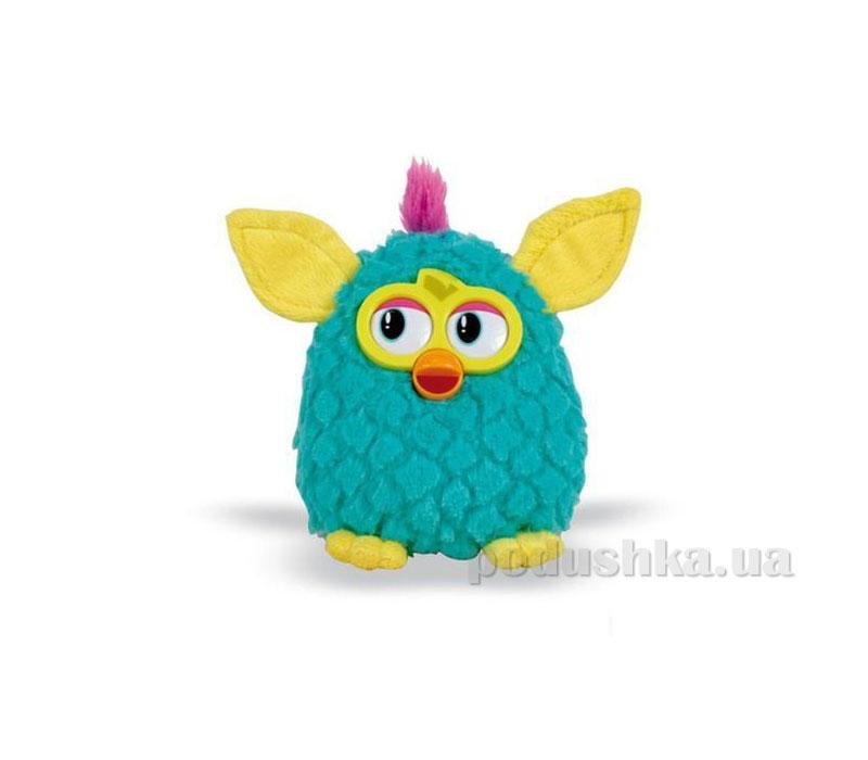 Мягкая игрушка Ферби бирюзовый с желтыми ушками 29 см
