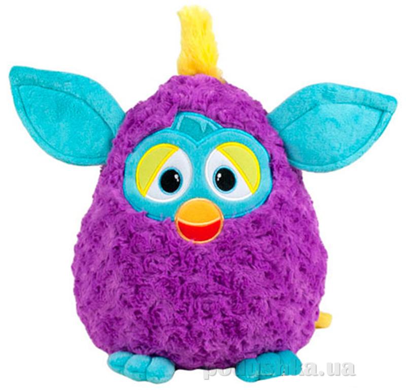 Мягкая игрушка Ферби фиолетовый с бирюзовыми ушками 29 см