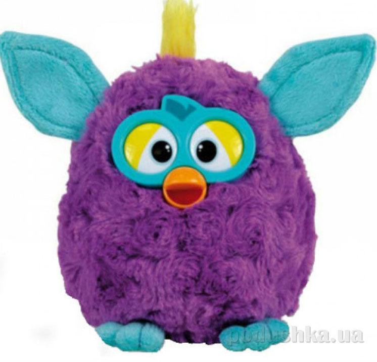 Мягкая игрушка Ферби фиолетовый с бирюзовыми ушками 45 см