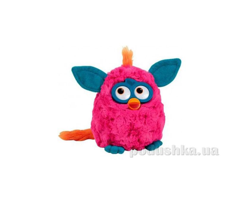 Мягкая игрушка Ферби малиновый с синими ушками 20 см