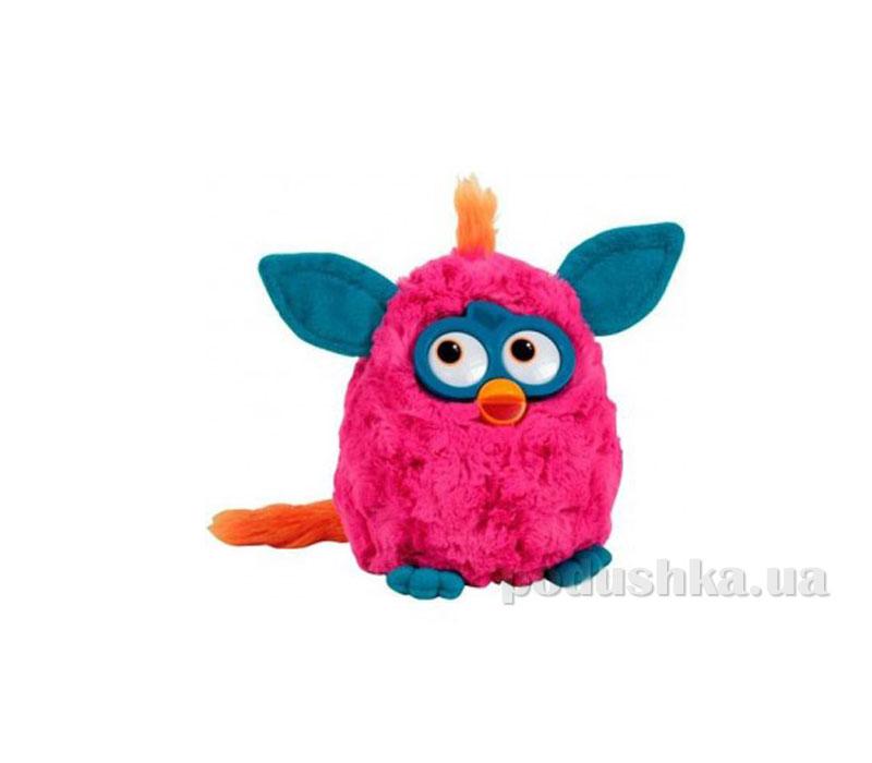 Мягкая игрушка Ферби малиновый с синими ушками 29 см