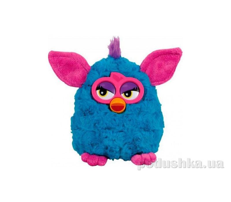 Мягкая игрушка Ферби синий с розовыми ушками 20 см