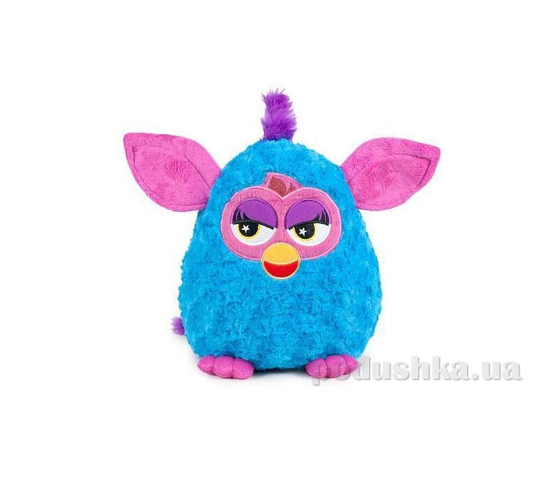 Мягкая игрушка Ферби синий с розовыми ушками 29 см