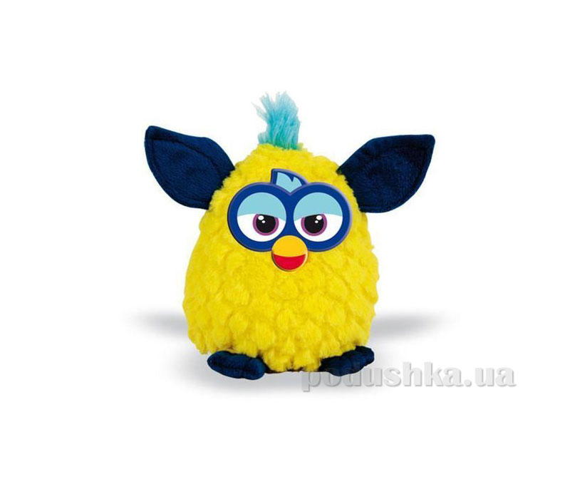 Мягкая игрушка Ферби желтый с темно-синими ушками 20 см