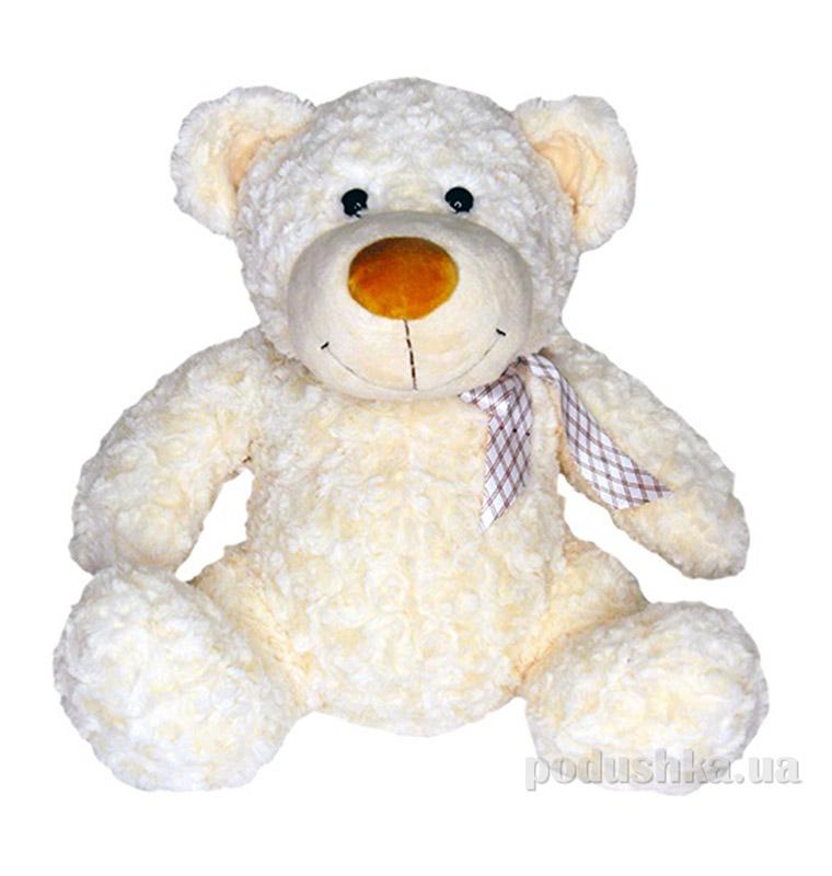 Мягкая игрушка Grand белый медведь с бантом