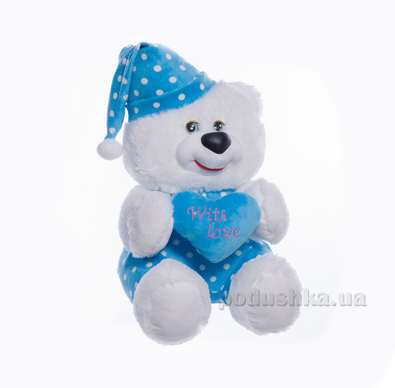 Мягкая игрушка Копица 00005-3 Мишка Сладкоежка голубой