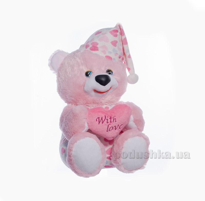 Мягкая игрушка Копица 00005-3 Мишка Сладкоежка розовый