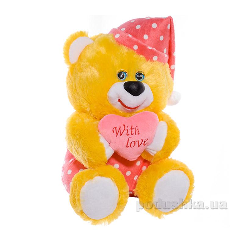 Мягкая игрушка Копица 00005-3 Мишка Сладкоежка желтый