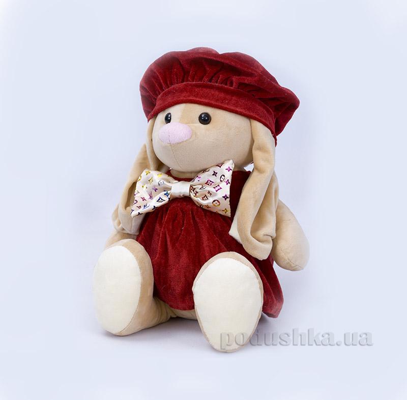 Мягкая игрушка Копица 00043-08 Зайчик Баси бордо
