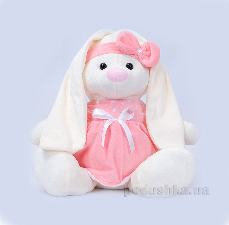 Мягкая игрушка Копица 00043-08 Зайчик Баси розовый