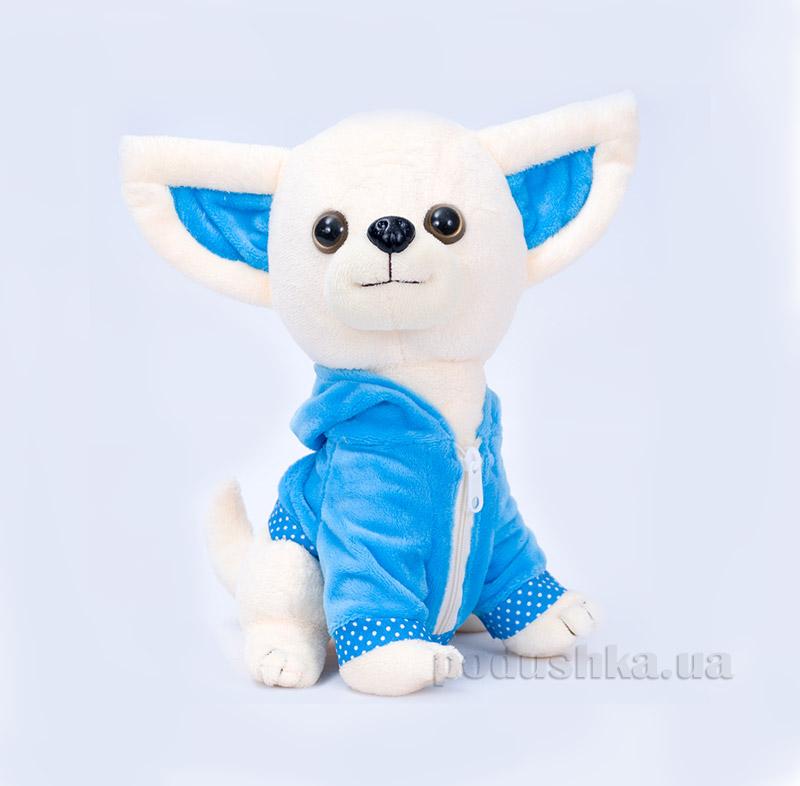 Мягкая игрушка Копица 00112-12 Пес Крошка голубой