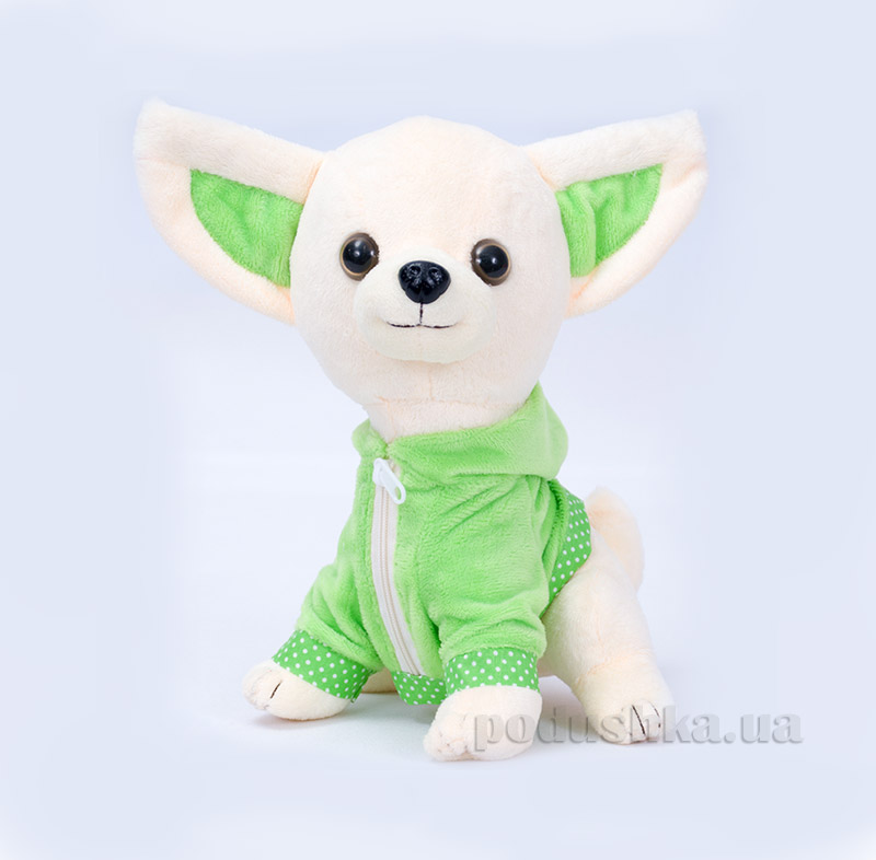 Мягкая игрушка Копица 00112-12 Пес Крошка зеленый
