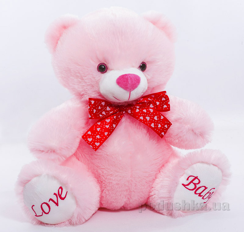 Мягкая игрушка Копица Мишка розовый  Размер 30 см Копица