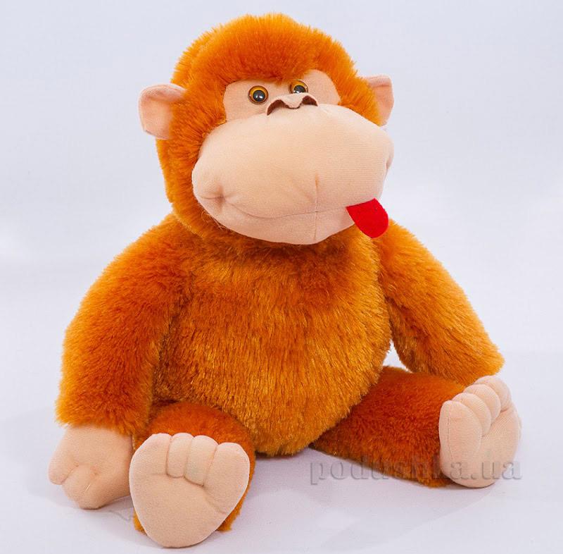 Мягкая игрушка Копица Обезьянка Мотя оранжевая