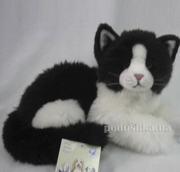 Мягкая игрушка Кот черно-белый лежачий DEVIK toys   JC-498BW