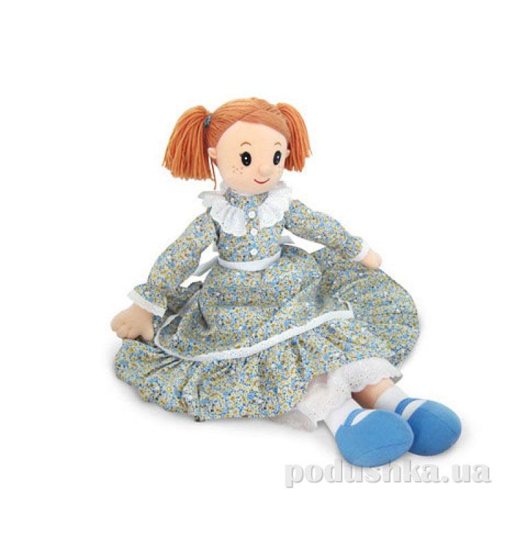 Мягкая игрушка Кукла Настя в ситцевом платье музыкальная LF1148