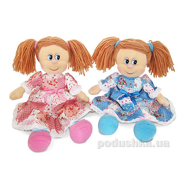 Мягкая игрушка Кукла Варенька в ситцевом платье музыкальная LF961B