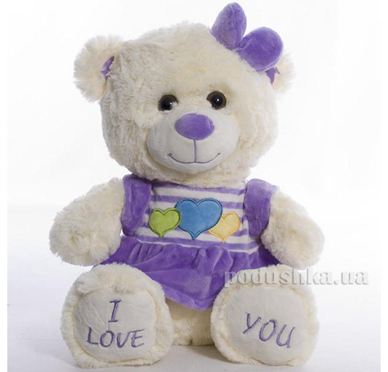 Мягкая игрушка Медведь Мери Копица 21009фиолет