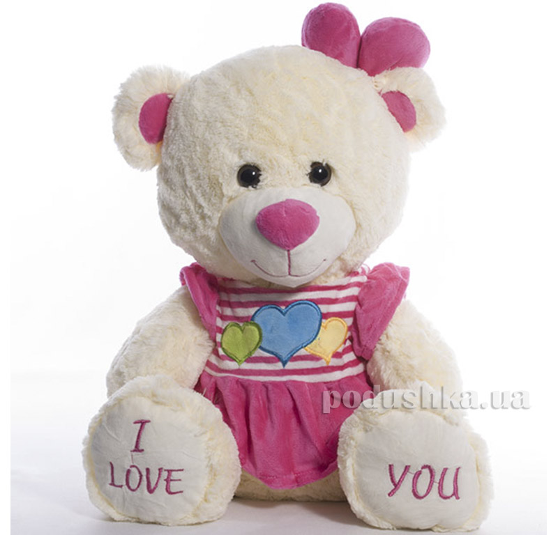 Мягкая игрушка Медведь Мери Копица 21009розов