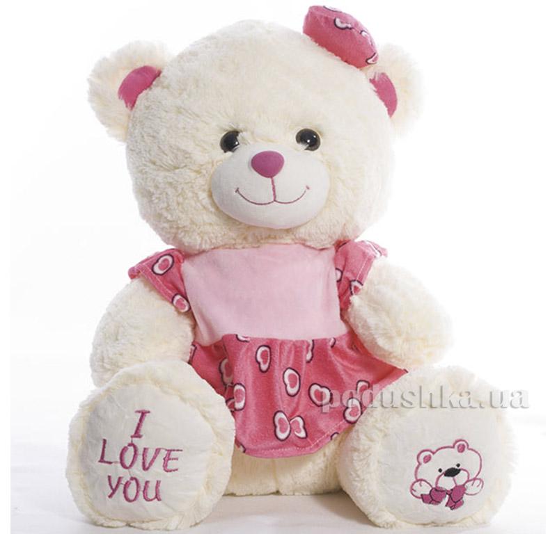 Мягкая игрушка Медведь Николя Копица 00715-5розов
